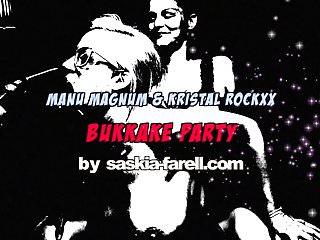 Manu gril naked Bukkake party - manu magnum kristal rockxx