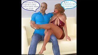 3D Comic: Cuckold Wife Fucks Husbands Best Friend