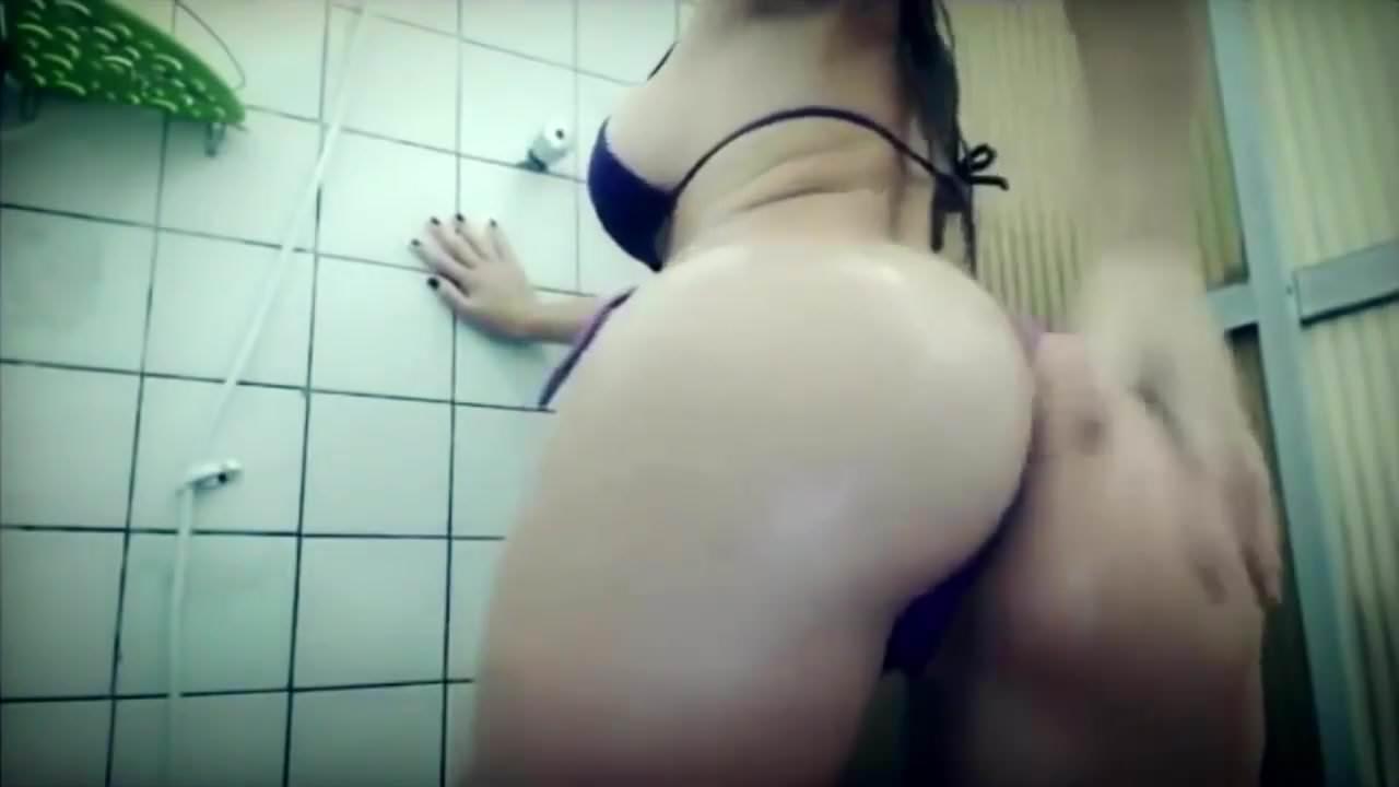 Brazilian girl fucked in doggystyle in shower