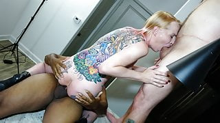 Ass Fuck Threesome for Post-OP Lisa Lace