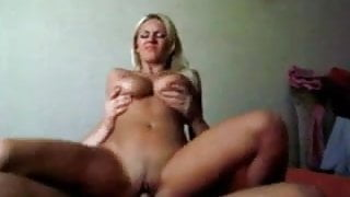 Blondie With Amazing Body Rides His Cock