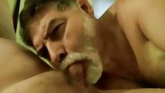 Silver daddy blowjob