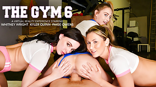 Naughty America - Sexy babes approach a gym stud