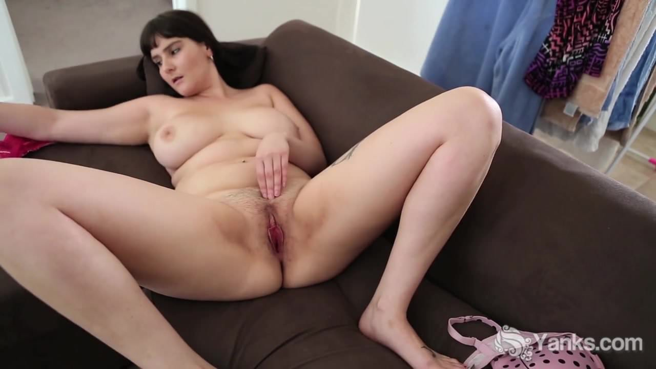 Busty patience masturbating her hairy twat free porn