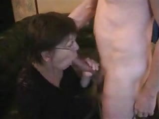 Cum older Older wife receives cum on face and chest