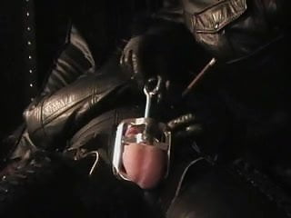 Cock and ball video - The leather domina - cock and ball torture