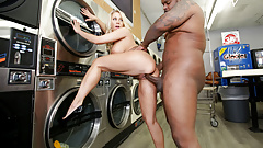 MILF Katie Morgan Takes Multiple Loads At The Laundromat