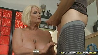 a mature woman with huge tits