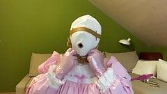 Diaper Sissy with Bondage Hood