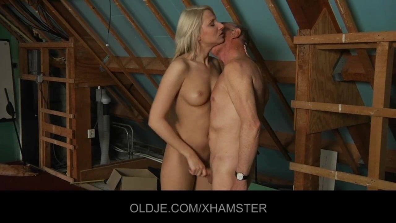 Old Man Young Girl Passionate