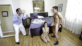 FamilyStrokes - Latina Teen Bounces On Her Stepbros Cock
