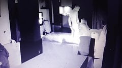 Spy-cam of a young couple having sex at home ..