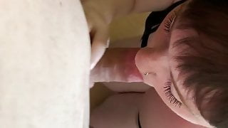 Tinder girl sucking my cock deep