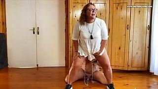 Dominatrix Mistress April - long dildo elephant slave