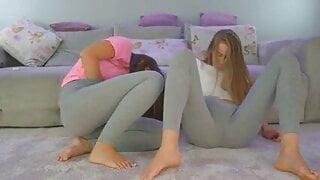 squirt in leggings
