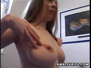 Girlfriends masturbate Busty amateur girlfriend masturbates and fucks with cumshot