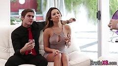 Babes swap cum in fourway