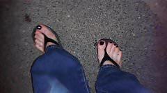 platform thongs