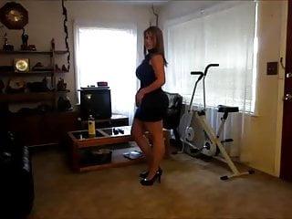 Buffie the body strip - Sexy body strip tease, huge ass