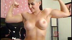 muscle posing