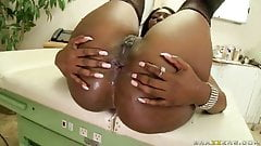 Ebony milf Nyomi banxxx gets assfucked and facialized