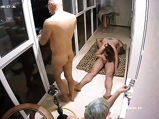 Adult fun things Lustful adults started fun orgy smoking action at balcony