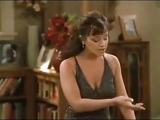 Boob breast cleavage juggs playing tit Leah remini merrin dungey big boobs cleavage