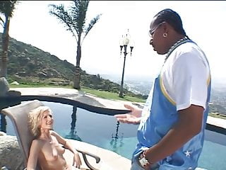 Hawaiian tits ass fuck poolside Older blonde whore gives black stud head poolside then fucks