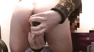 double anal with my dildos and cool ejac