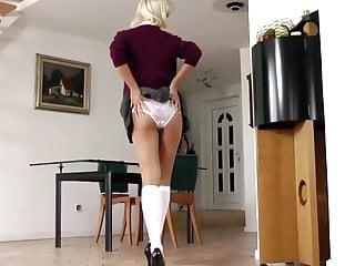 Old man and slut Young british slut masturbates for old man