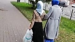 Following two hijab Ladies 2