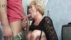 Granny fucked by horny stepson