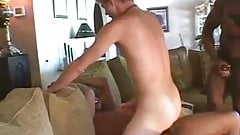 2 Horny Back Men fuck  white boy