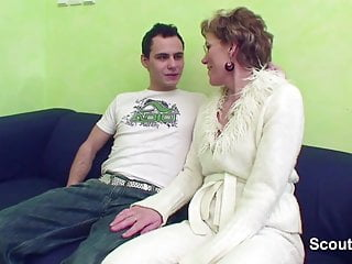 Masturbation boy - German granny caught young boy masturbation and helps him