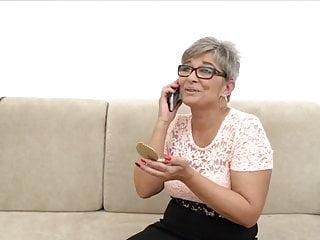 Facial hair regrowth - Grey haired granny takes cock and facial