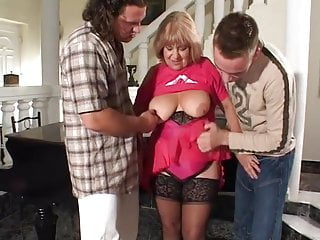 Woman with boy porn videos Old woman with two young boys