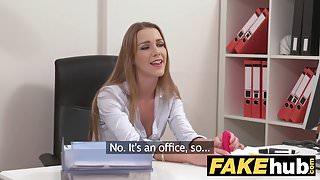 Female Agent Shy maid in stockings cums hard lesbian casting