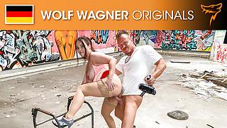 Hot fuck for MILF Dirty Priscilla in PUBLIC! Wolfwagner.com