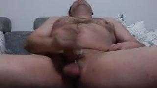 Husky Man Masturbates