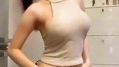 Asian Thai girls shaking fine ass dancing in little shorts