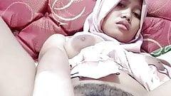 Hot asian tudung, hijab, jilbab slut playing herself 12