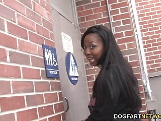 Busty ebony girl deepthroating white cock Busty ebony aryana starr sucks big white cock - gloryhole