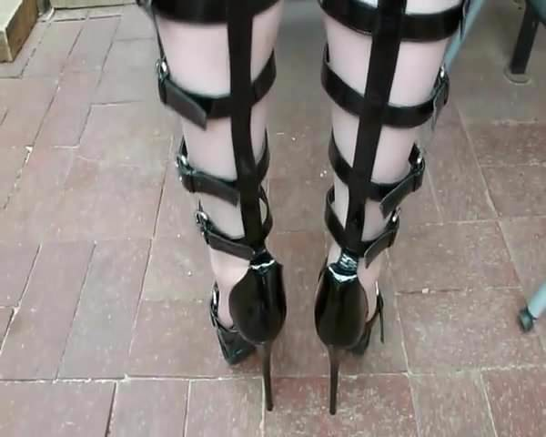 Silk Stockings High Heels