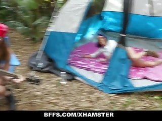 Sex at camp ground on video Bffs - camping sluts fuck homeless man