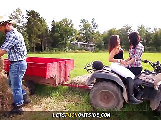 Naked cowboy videos - Lets fuck outside - cowgirls gets fucked by cowboy in outdo