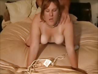 Naked red-hair - Red hair, nice tits, pearls, and dirty mouth