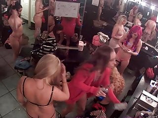 Streaming hairy Live stream from strip club dressing room