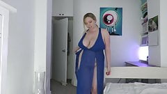 Amazing British model bouncing her boobs