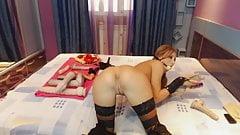 Amateur Sexy Hot Bimbo Milf Gag In Latex On Webcam - Ash