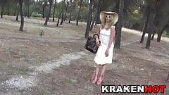 Provocative MILF in a voyeur nudity video